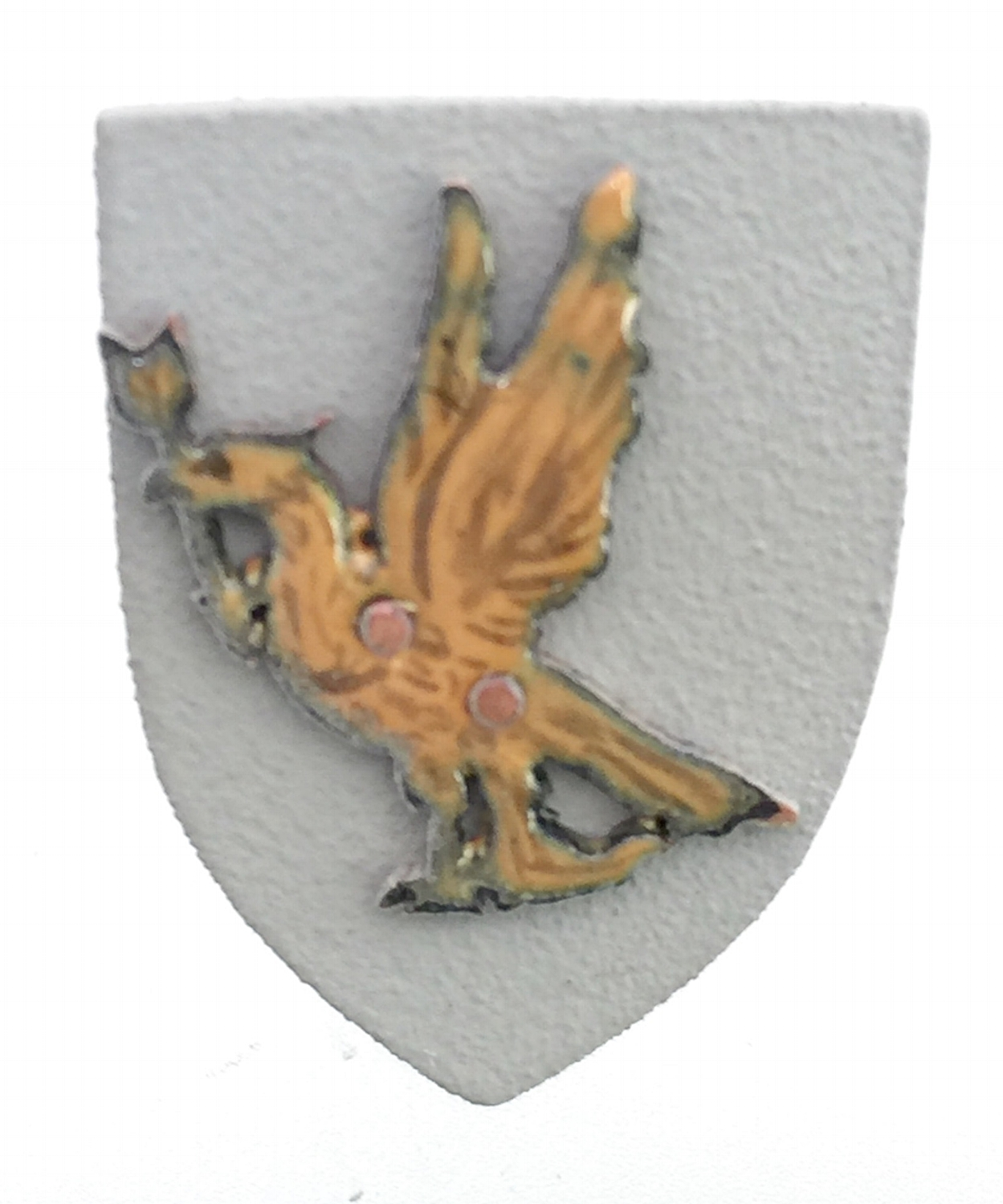 Golden Eagle with Arrow on Gray Shield