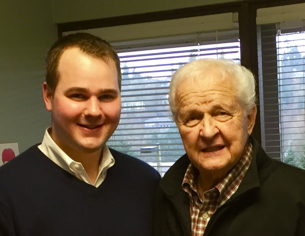 Nolan with Russ Haehl Sr.