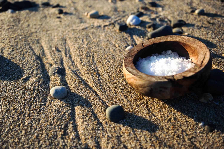 Harvested Tasmanian sea salt flakes