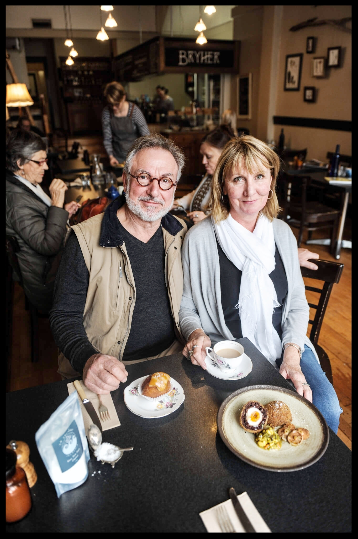 Founders of La Saliere at Bryher Cafe Launceston