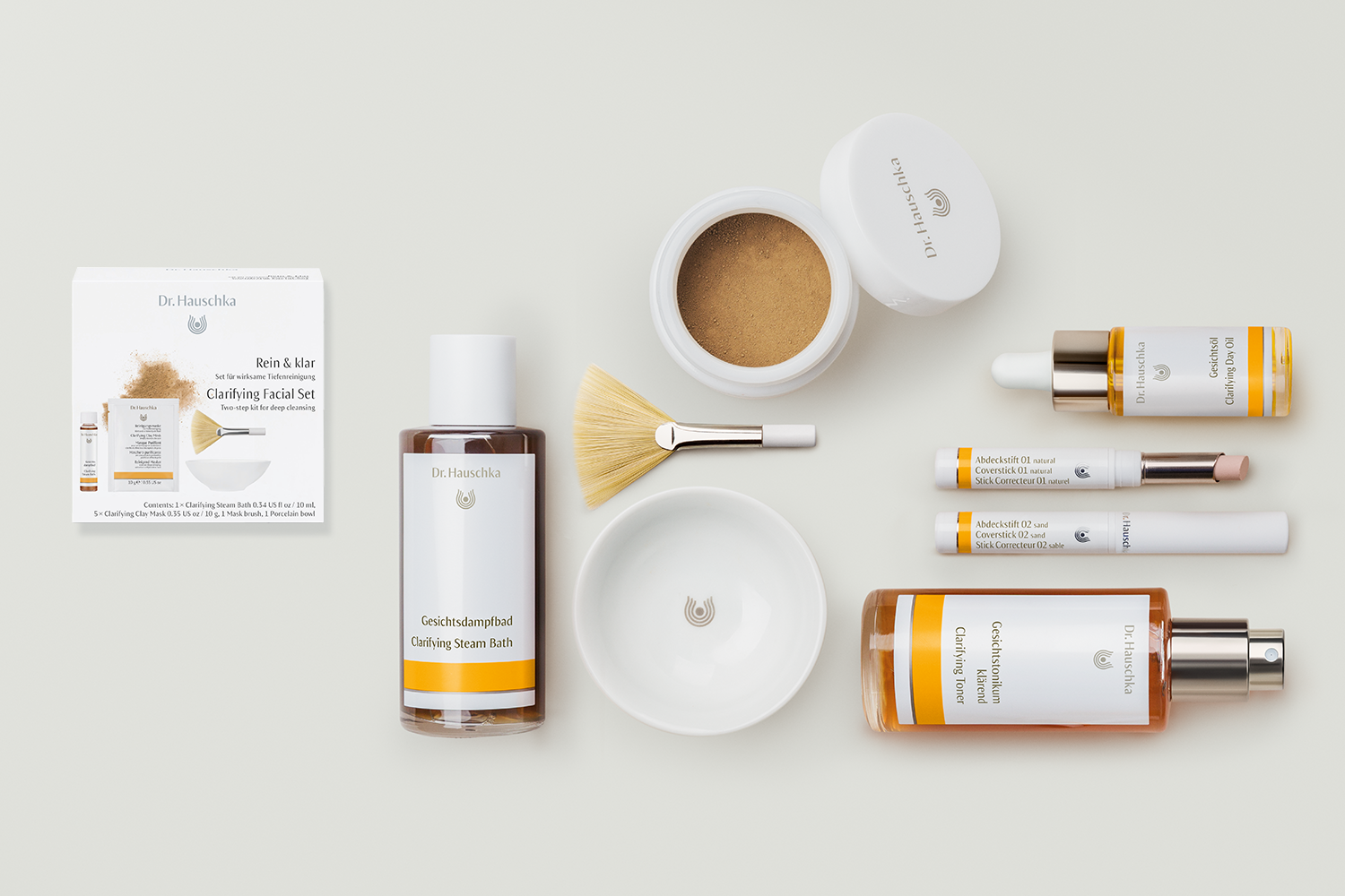 Dr. Hauschka NEW ARRIVALS for clear skin! - 1) NEW limited edition Clarifying Facial Set RRP $452) NEW price point, NEW size with pipette Clarifying Day Oil RRP $573) NEW improved formula and shades Coverstick 01-02 RRP $35