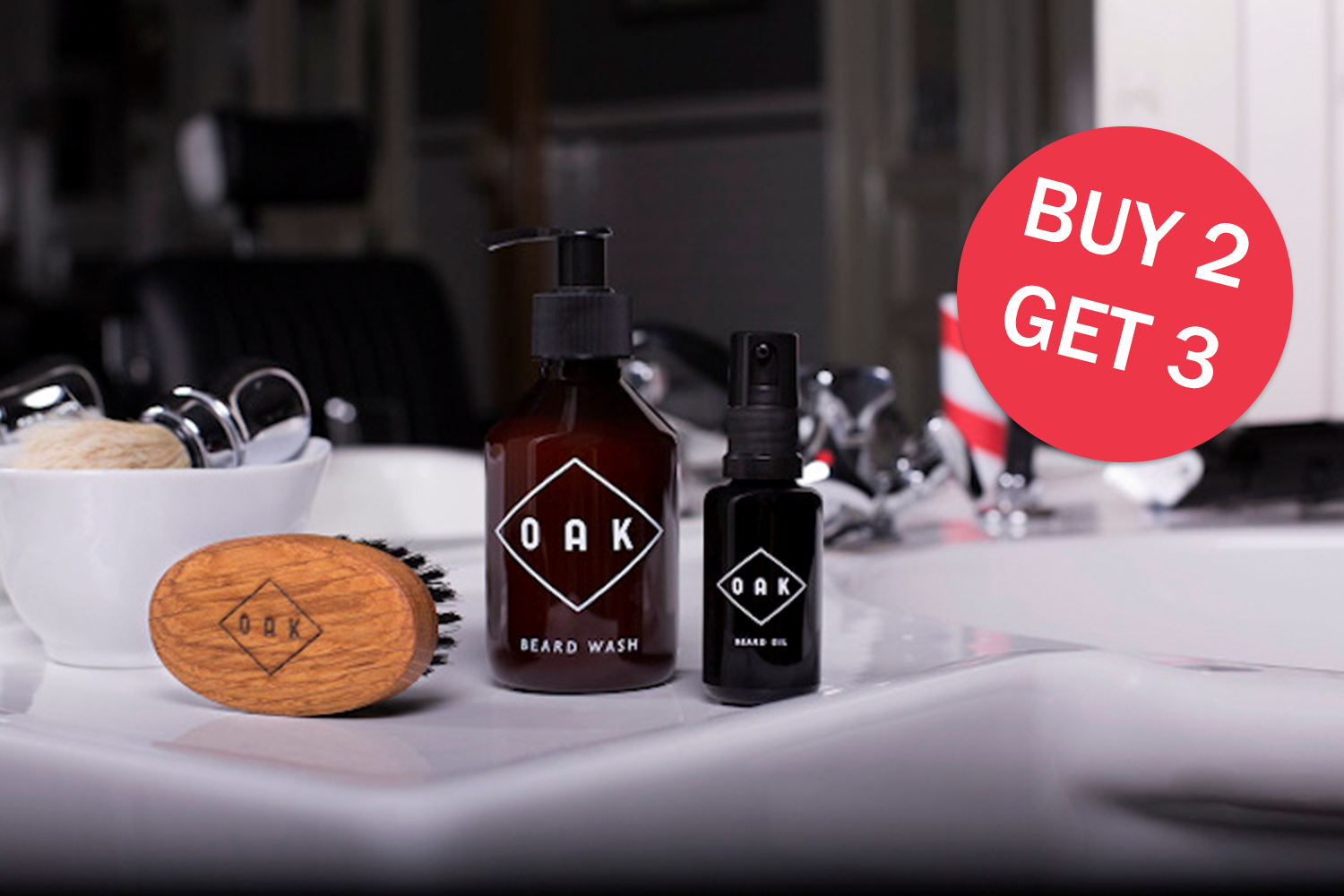 OAK 3 for 2! - Buy 2 OAK products and get 1 FREE**3rd product is to be the same or lesser value. Type the name of 3rd product in Additional Information box during checkout.Offer available until 31st October and while stock lasts.