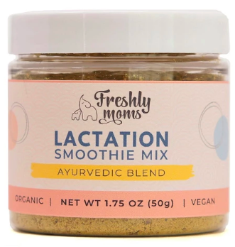 Freshly Moms - Lactation Smoothie Mix. 100% organic and nourishing, this blend of lactation superfoods mixes perfectly into fruit smoothies as well as chocolate-based smoothies. There's no added sugars, sweeteners or flavors, giving you the freedom to add your favorite one (or skip one altogether).