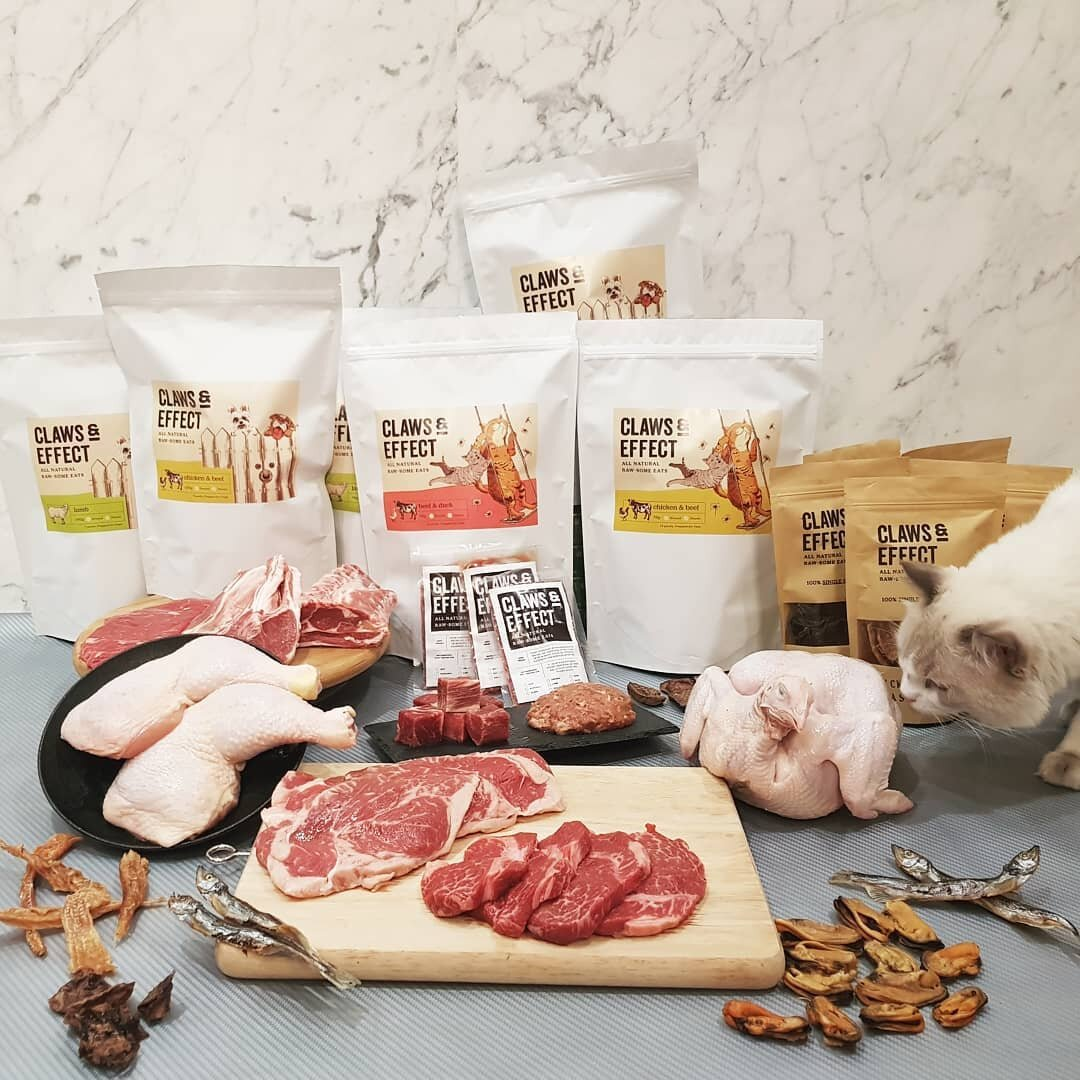 Claws and Effect - Ground and whole raw diet range