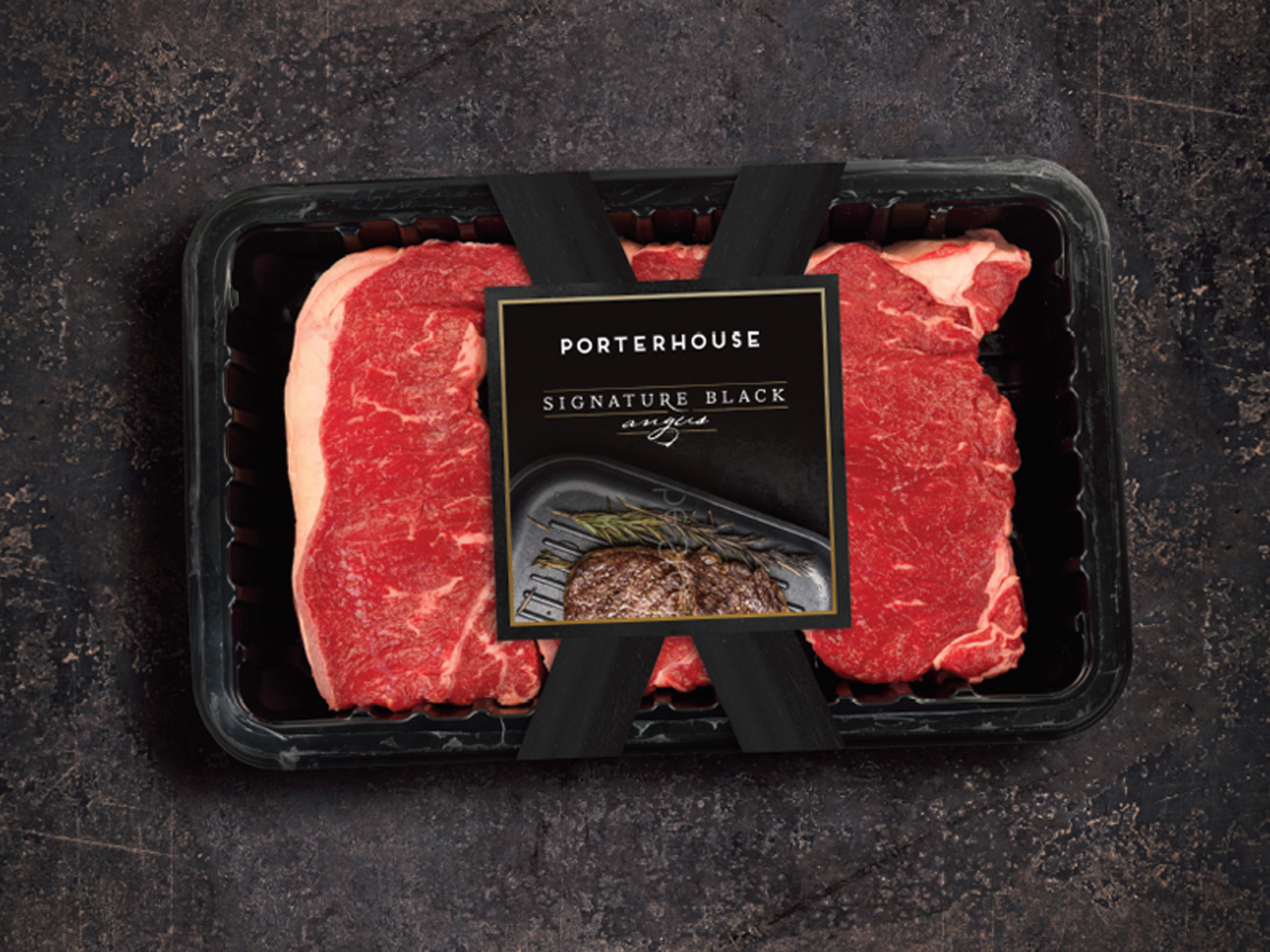 Packaging for Signature Black Angus, Singapore