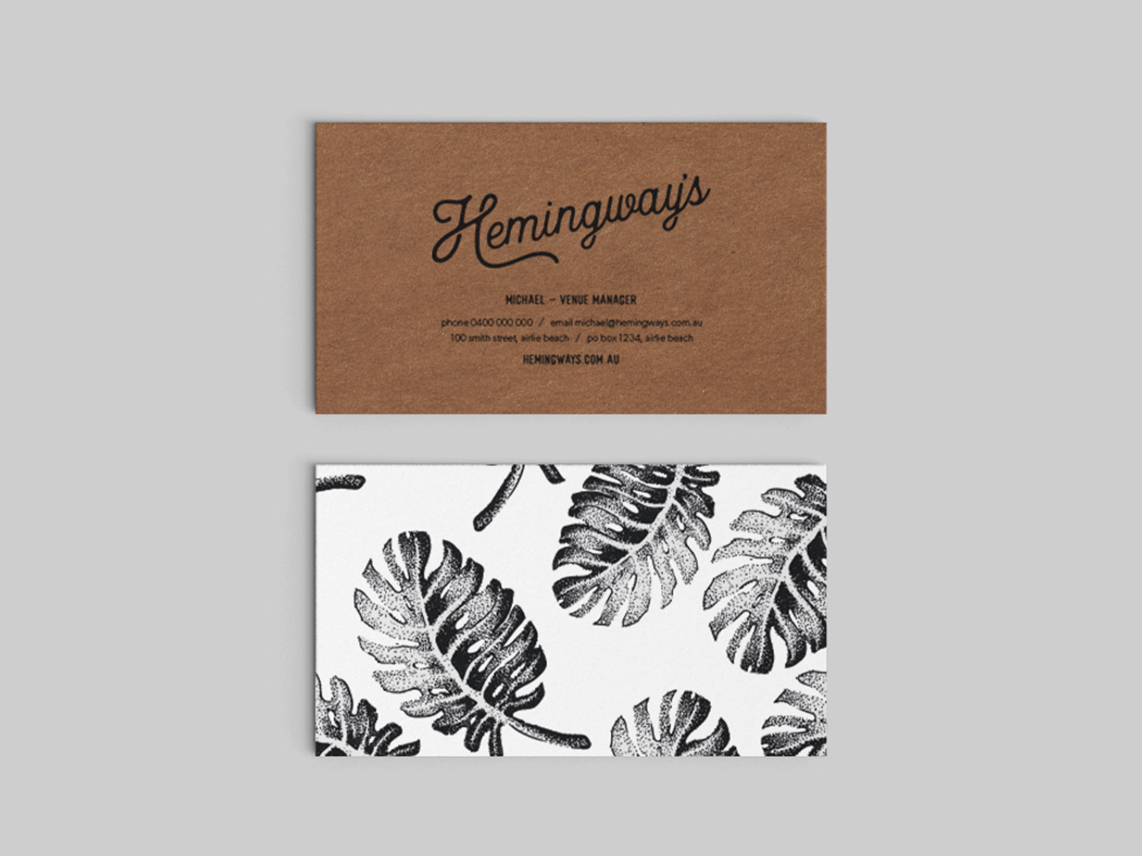 Branding for Hemingway's Restaurant, Airlie Beach