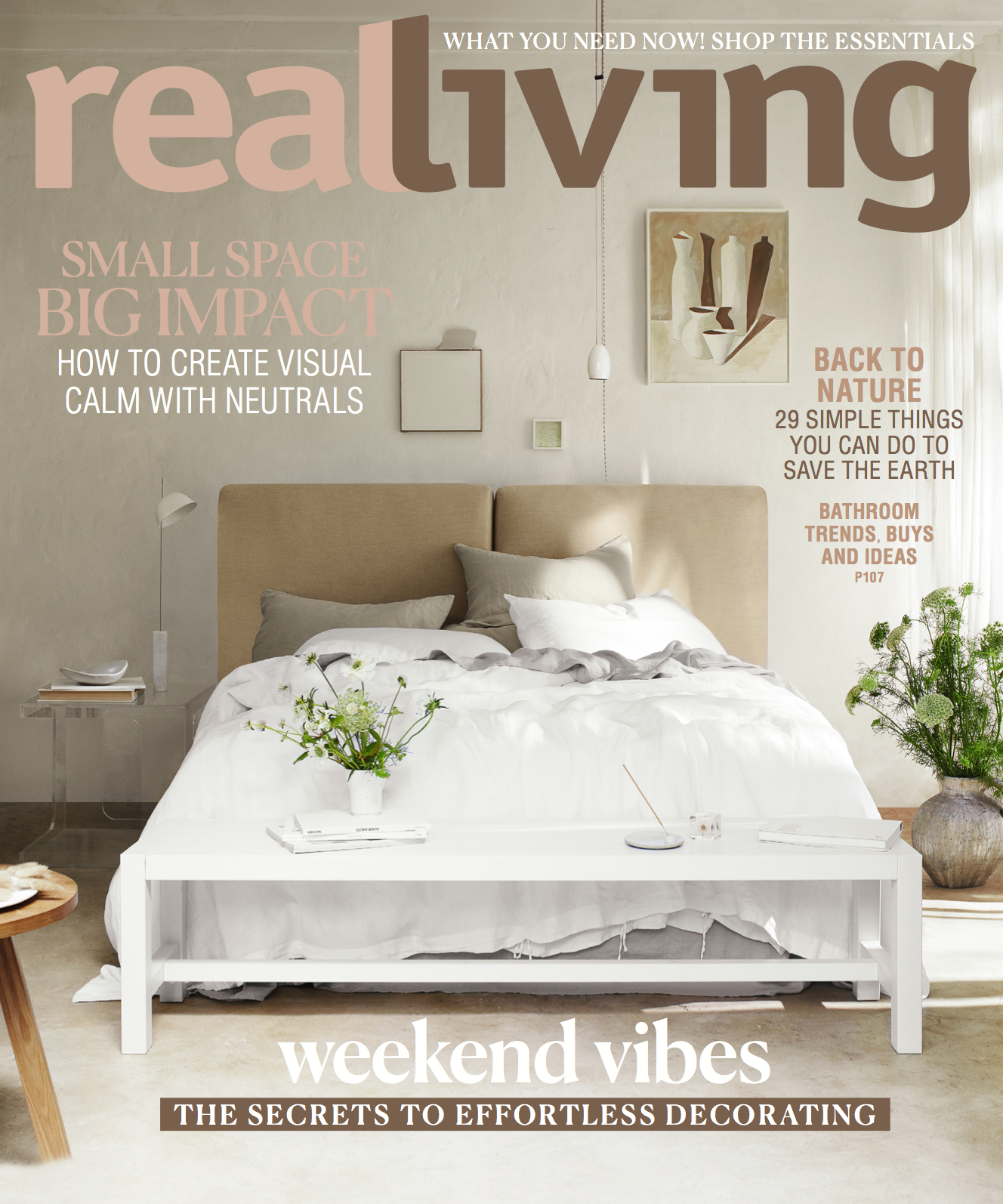 ON THE COVER OF REAL LIVING JUNE 2019 - I'm so delighted to have my Incense Holder and Pebble Bowl both featured on this beautiful cover of the June issue of Real Living magazine. And they're featured inside along with a little candlestick collab I did with Vela de Cera. Check out the pages here.