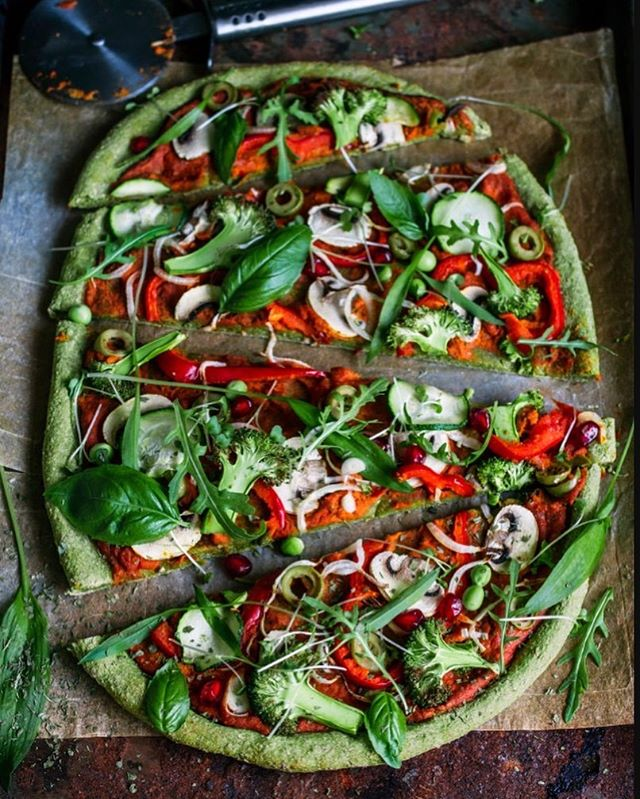 New recipe: GREEN PIZZA: The perfect solution for your pizza cravings. You can top the base with an assortment of delicious LMF foods. We've given you some options to get you started! This AWESOME recipe and others available on the site. Hit the link in our bio to get things started in the kitchen. #food #vegan #recipes #veganrecipe #foody #nutrition #wednesdaywisdom #healthypizza #cook #ethicalvegan