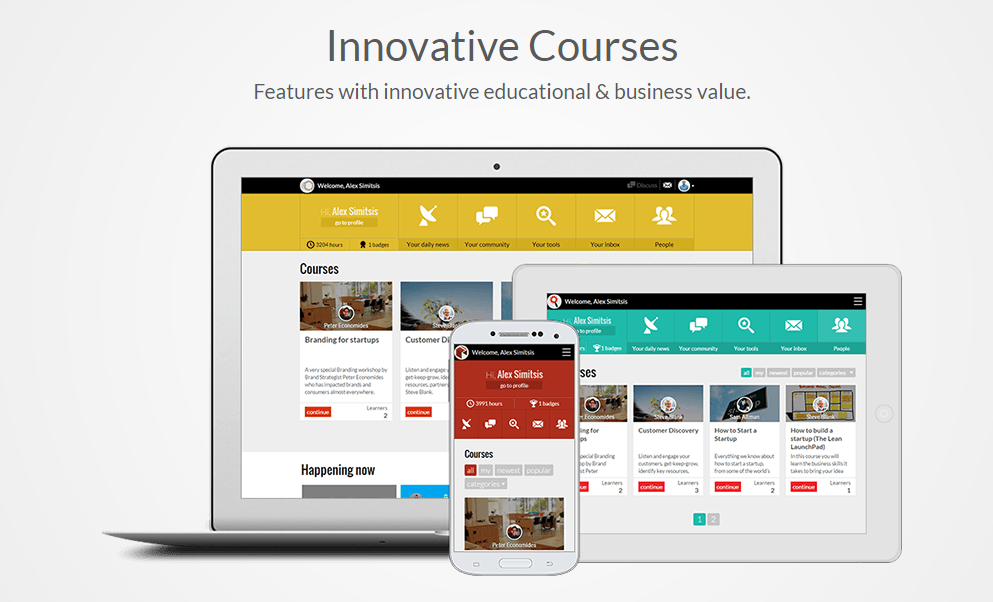 Online Courses - Entrepreneurship education prepares people from all walks of life to become entrepreneurs by immersing them in real life learning experiences where they can take risks, manage the results, and learn from outcomes. Students can listen to audiobooks, download e-books (or read them in our player) and watch engaging video lessons at their own pace online, bringing entrepreneurship to life! Also included is the E-book,