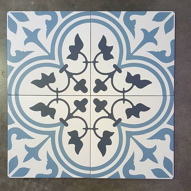 Encaustic floor tiles in 200x200 set of four available through @qmi_tile_and_stone  #floortilesdesign #encaustic #bathroominspo #bathroom #kitchensplashback #laundryroom #swbuilding #buildingidea #dunsborough