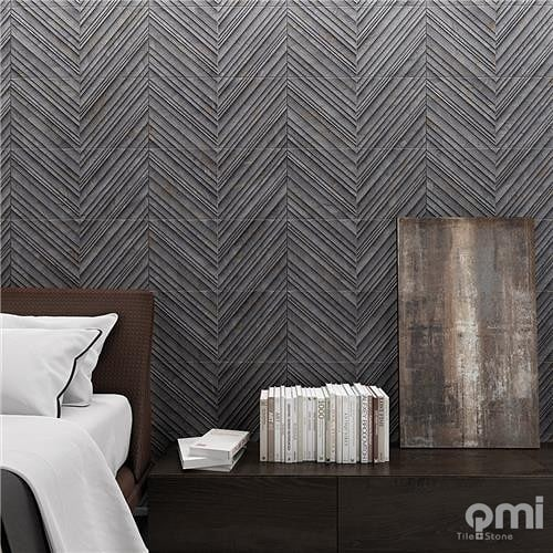 300x600 plain tile or add the decor tile for character. Available in dark and light colours @qmi_tile_and_stone  #featurewall #featuretile #bathroom #walltile #patternedtile #kitchensplashback #swbusiness #buildingidea #building #renovating