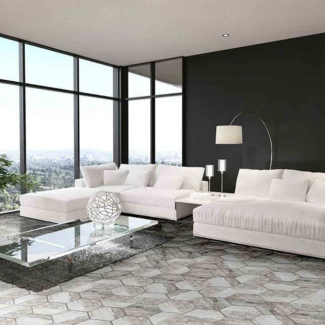 Hexagon tiles with a timber look pattern, what's not to like 😍 available in @qmi_tile_and_stone  #floortilesdesign #hexagontiles #hexagon #porcelaintiles #timberlook #livingroom #swbuilding #building#renovating#capesregion #qmidunsborough #addcharacter