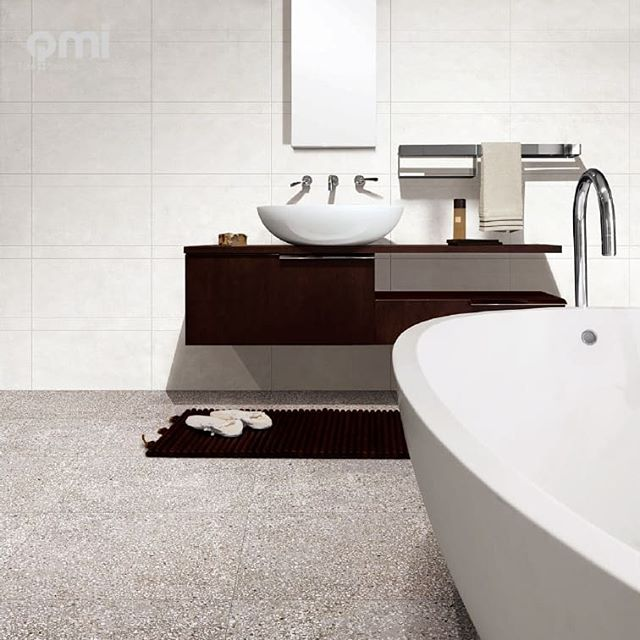 Terrazzo look tiles have made a resurgence in the design industry.  #qmidunsborough #terrazzofloor #terrazzo #porcelaintiles #porcelain #bathroom #bathroominspo #dunsborough #busselton #buildingidea #renovating