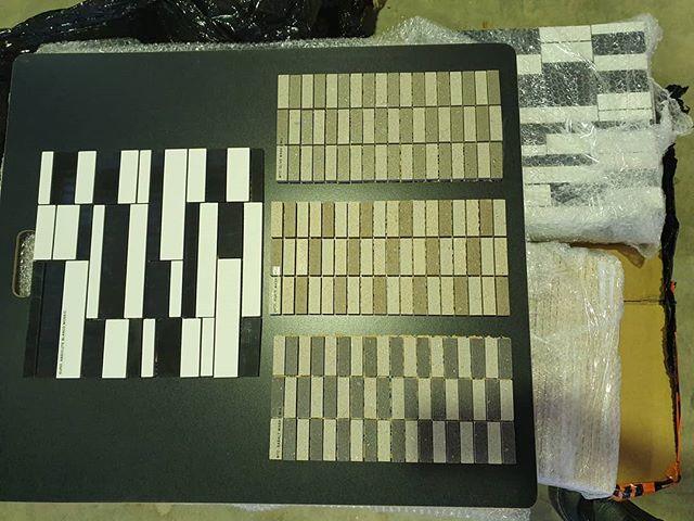 New samples to unpack. #flooring #walltiles #walltilesdesign #qmi #mosaictile #whitesubwaytiles #building #busselton #dunsborough #renovation