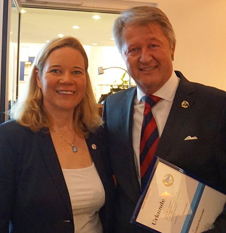 Vorstitzende Sybille Meier und Claus-Dieter Cramer