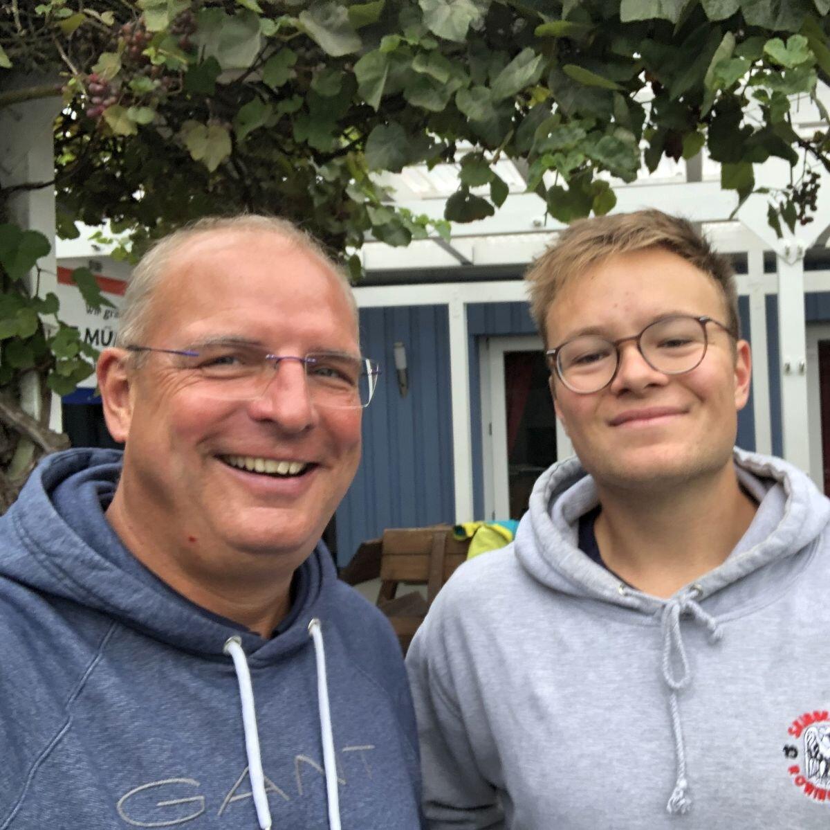 Trainingsleiter Boris Orlowski und Paul Rasch haben gut Lachen!