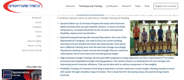 Image 2 . Sportsmetrics Current Research Studies