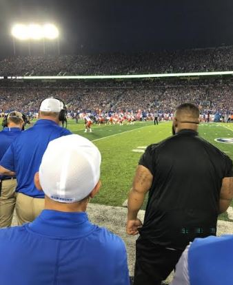 UK football coverage - Sideline coverage view at Kroger Field