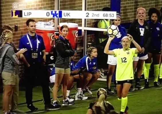 ESPN snapshot - UK soccer sideline coverage