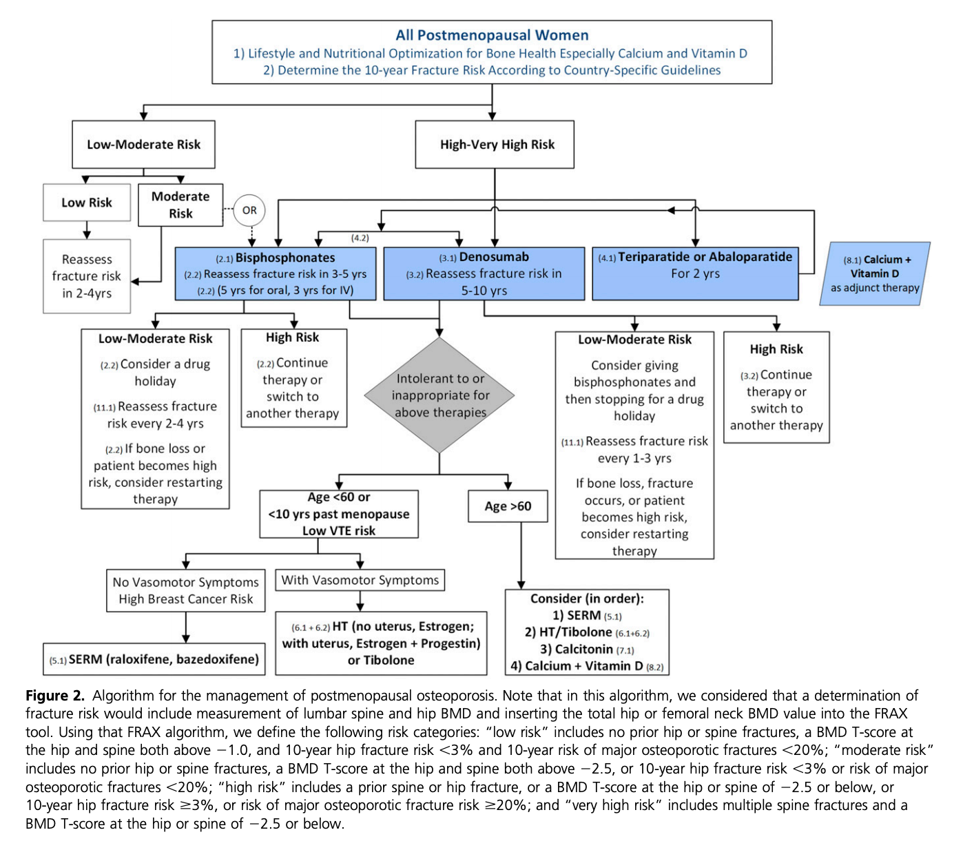 Figure 1 . Algorithm for medical management. Adopted from Eastell et. al (2019) (29)