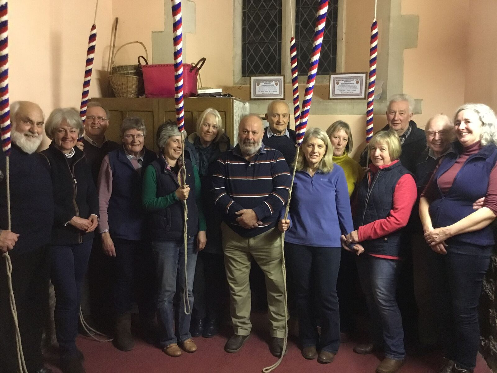 The bell ringers meet on alternate Thursdays at 7.30pm. Please email if you would like to join us