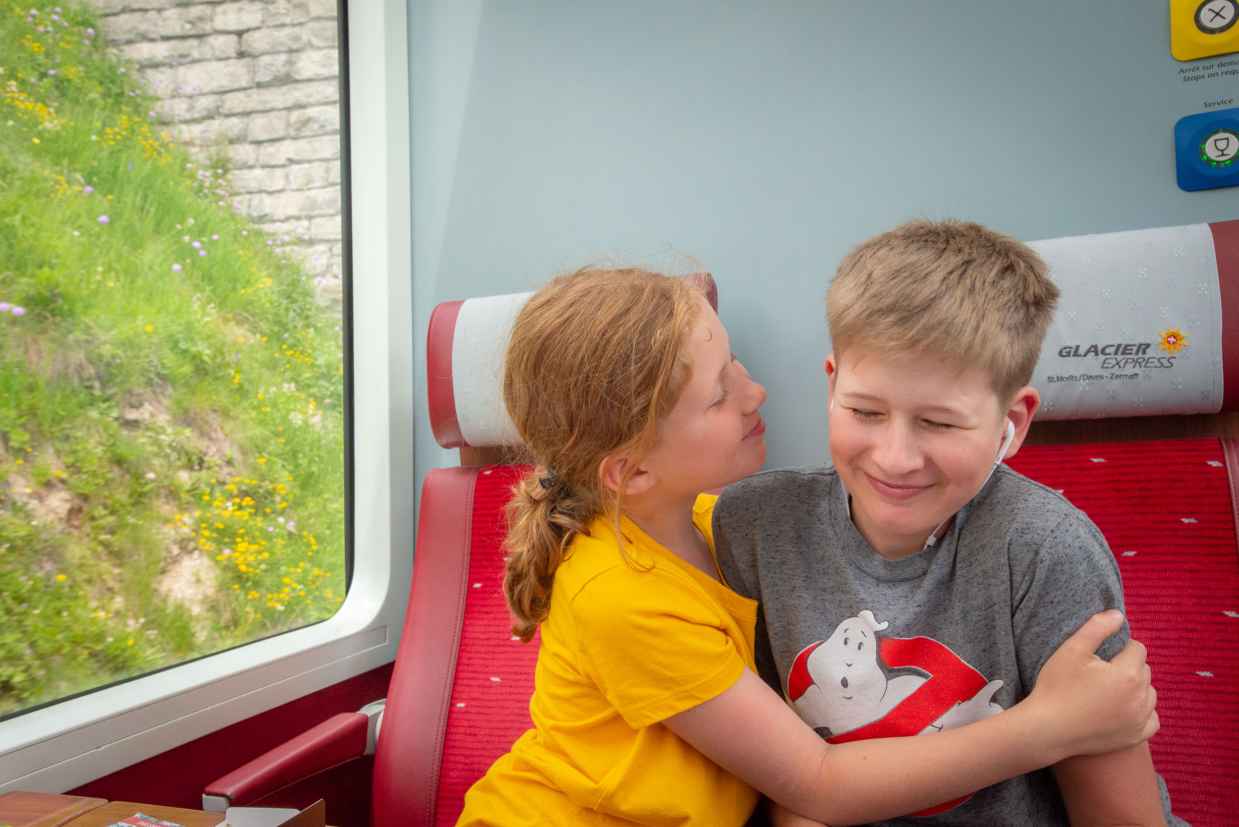 These children grew even closer than before on this trip, and the Glacier Express was no exception. More on that another time.