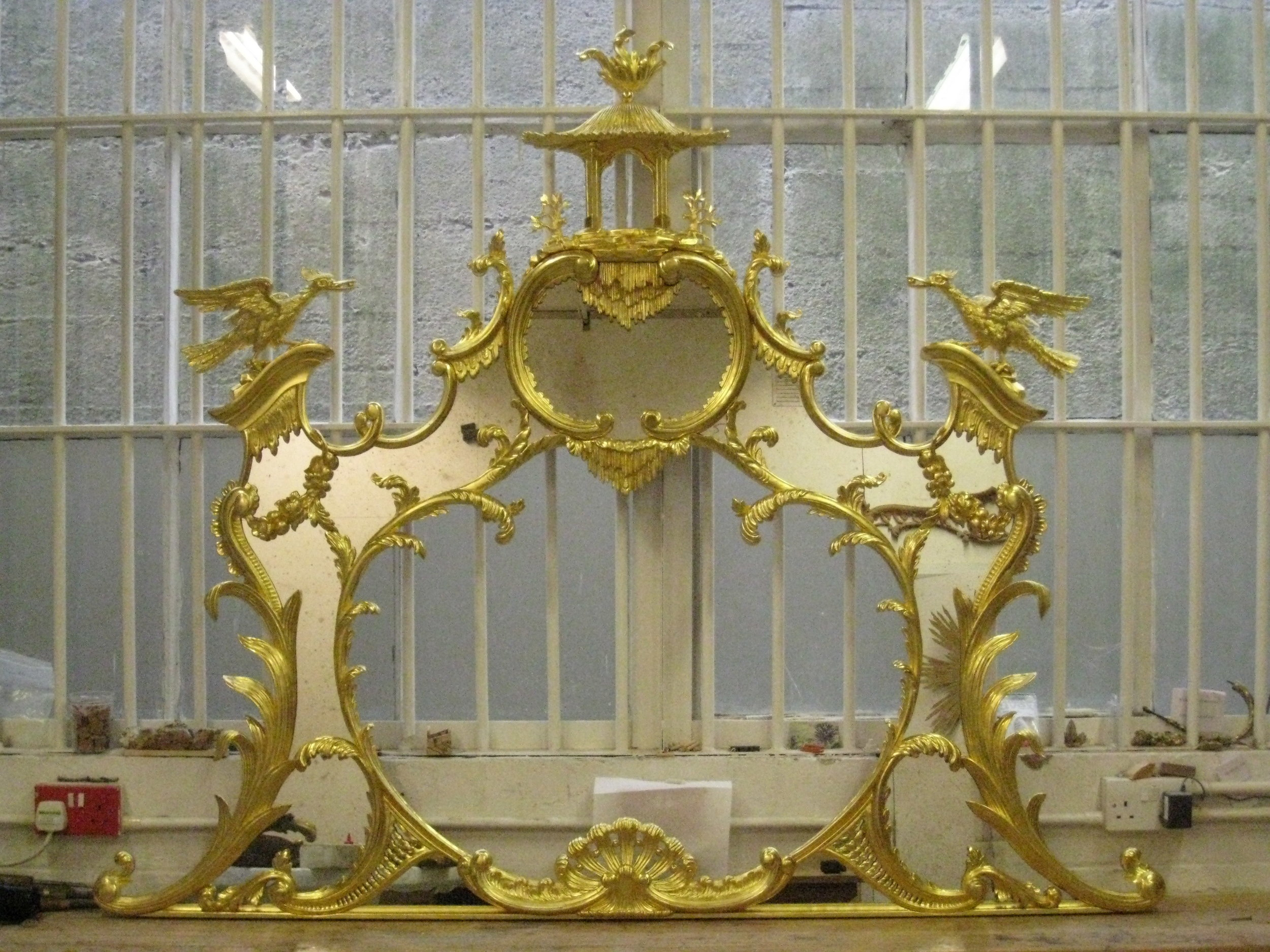 Carvers & Gilders - Overmantel mirror commission with Gosling Ltd.