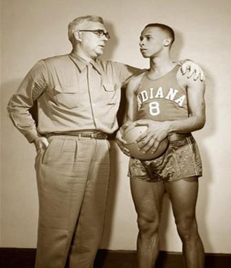Coach McCracken pictured with Bill Garrett.