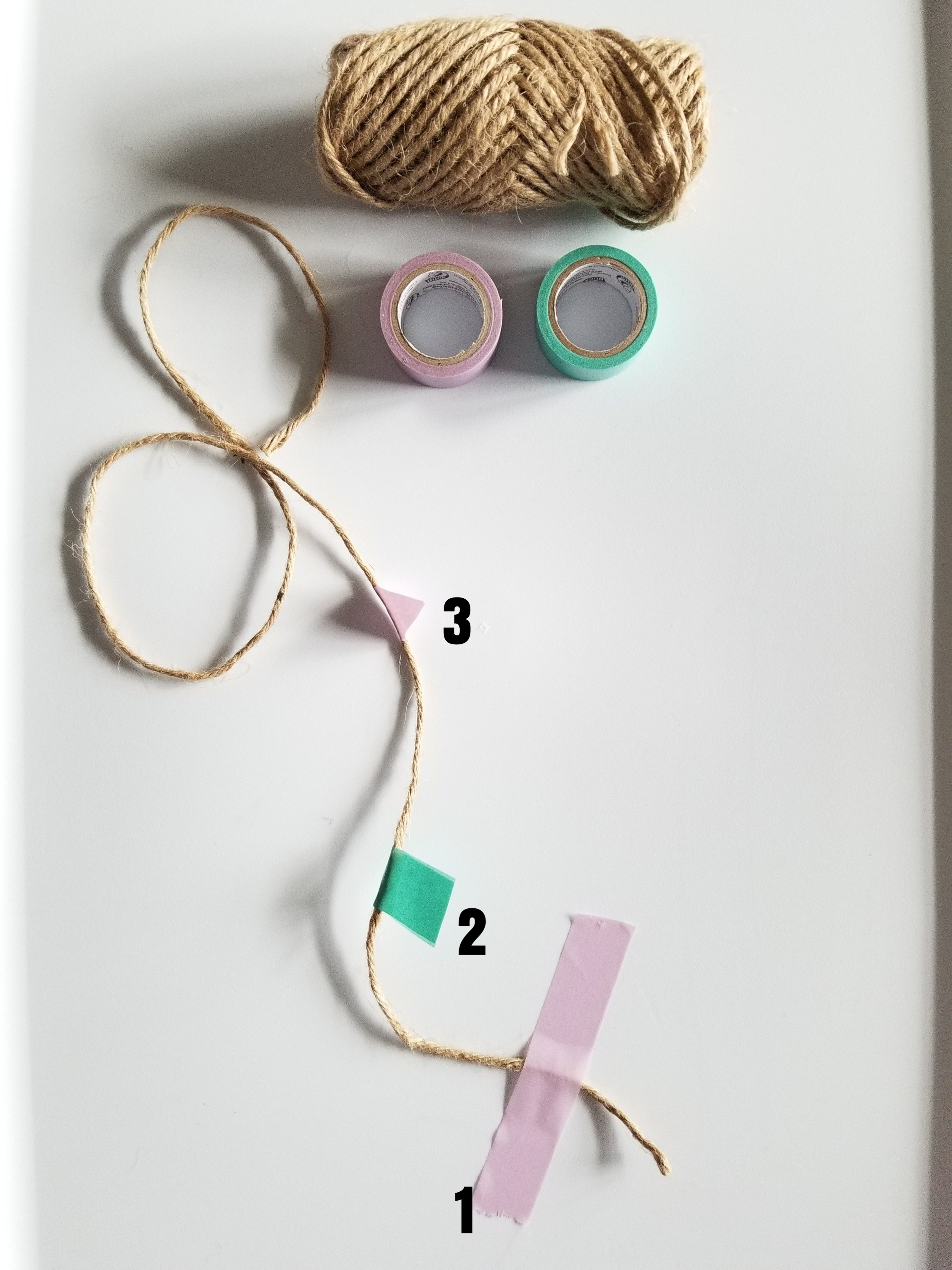 Steps to making the detailed string.