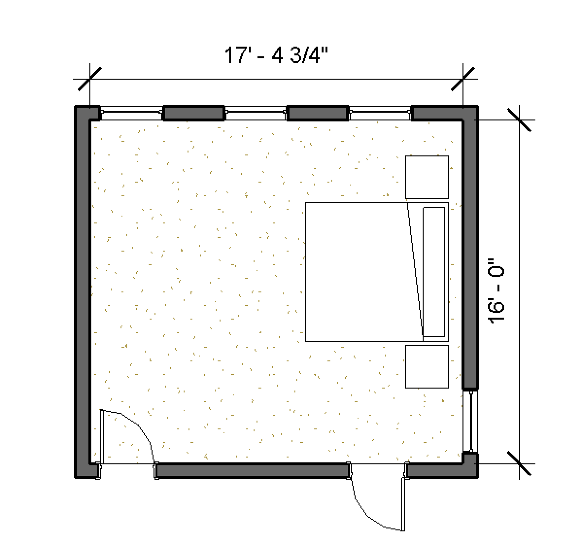 Size of the master bedroom
