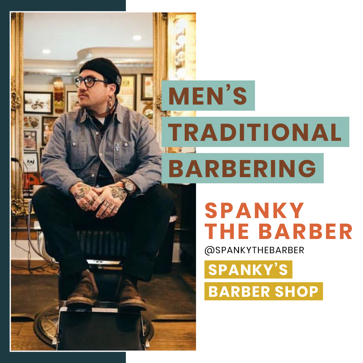 - Learn a 7 step haircut method which includes, trimming and shaping a beard correctly, detail work to make you a stand out, client consultation and interaction while they're in your chair, educating them on products, and ending the haircut in a manner in which they will return.More about Spanky