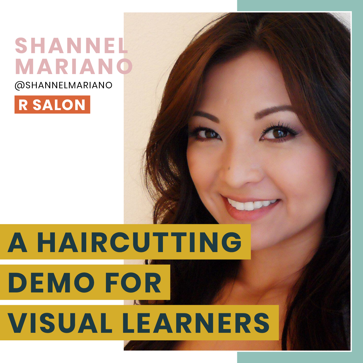 "- In this look and learn you will not only experience an amazing haircut, you will also understand the theory that went into creating it. Gain knowledge of the ""why"" behind each step as you explore the ins and outs of a cut that not only looks good but is purposefully executed as well.More about Shannel"