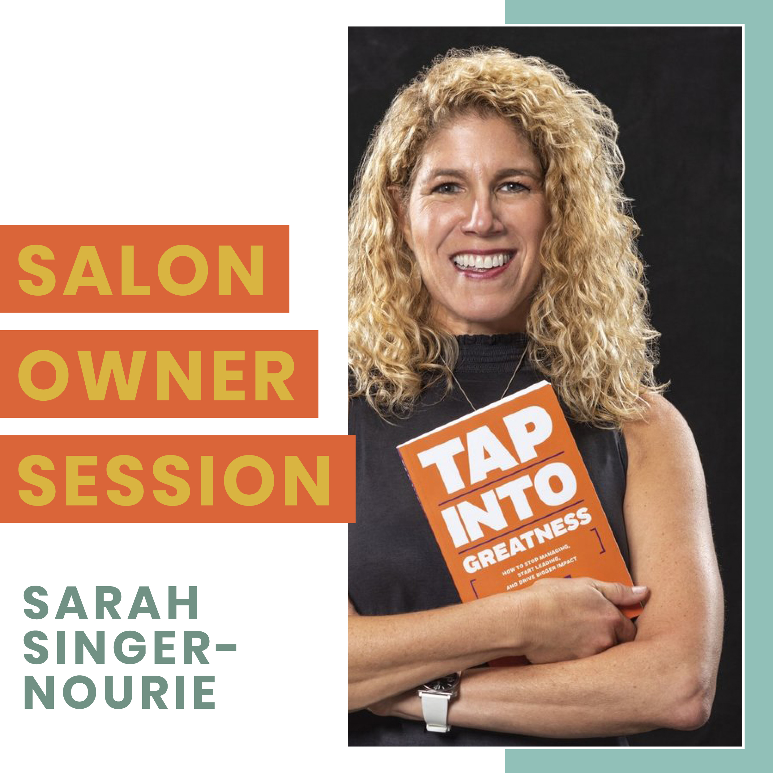 - *SALON OWNERS & MANAGERS ONLY* Have you ever noticed how 3 different people can execute the same technical steps, but create wildly different results? Do you want to get more consistent about the impact you know you can have on your team, and that your team can have in the world? In this power-packed session, we'll unlock all of that, and set you up to be able to get deeper, broader, more intentional impact across your business and your influence, in everything you do and everyone you interact with as a leader.More about Sarah