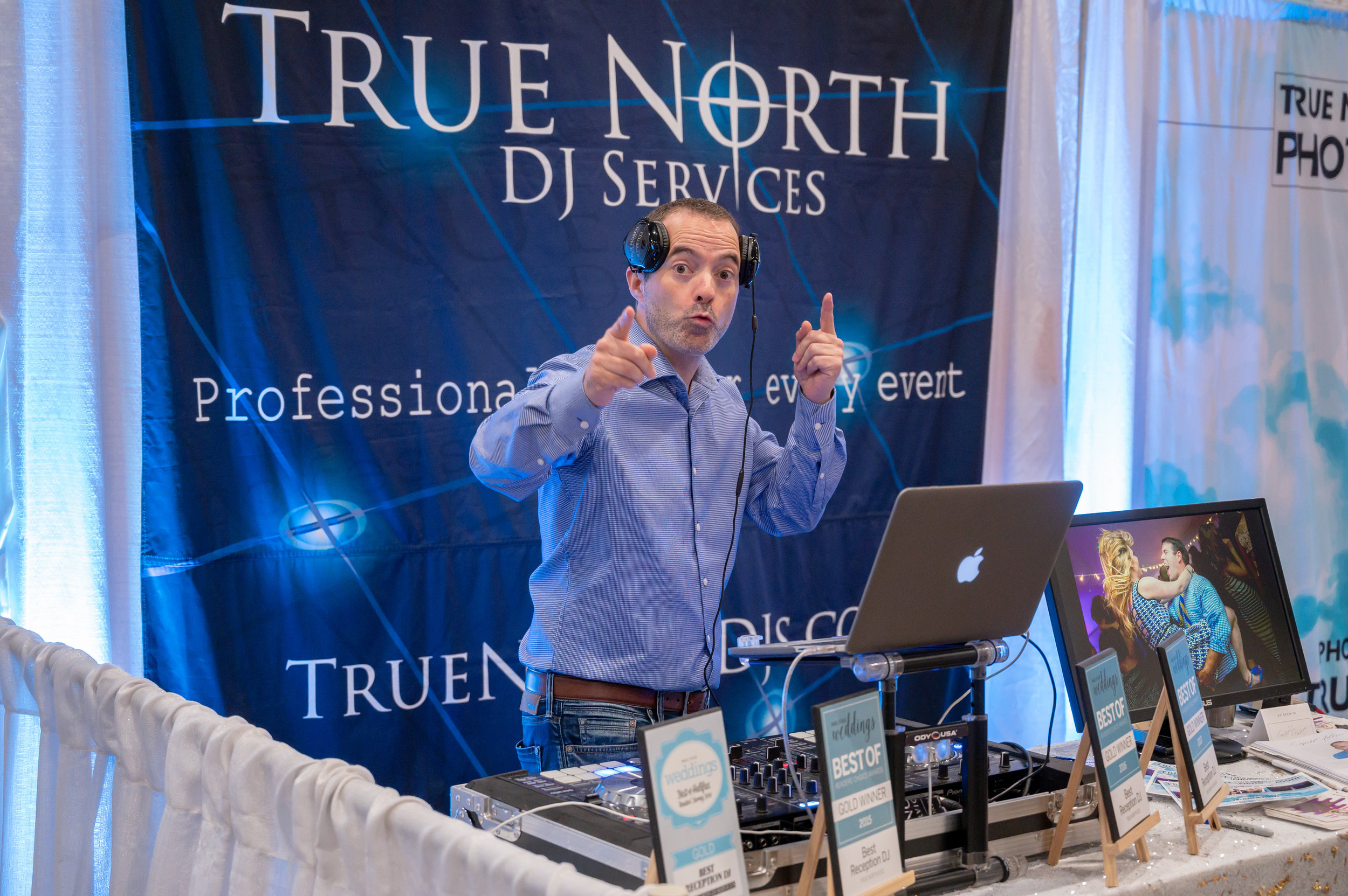The one and only Scott Rideout from  True North  spinning for the fashion show