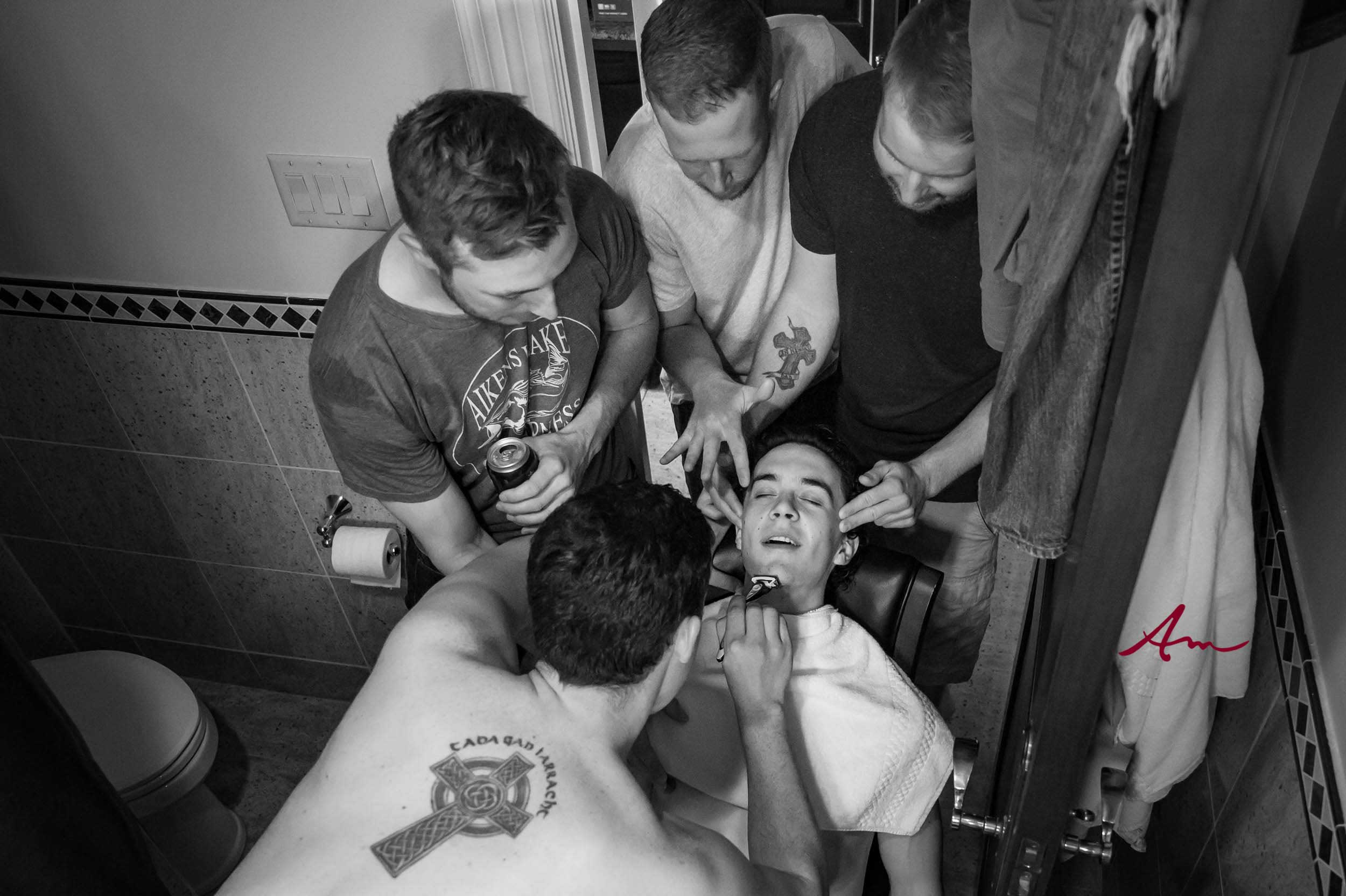 Fox-Harb'r-Wedding-Guys-Shave.jpg