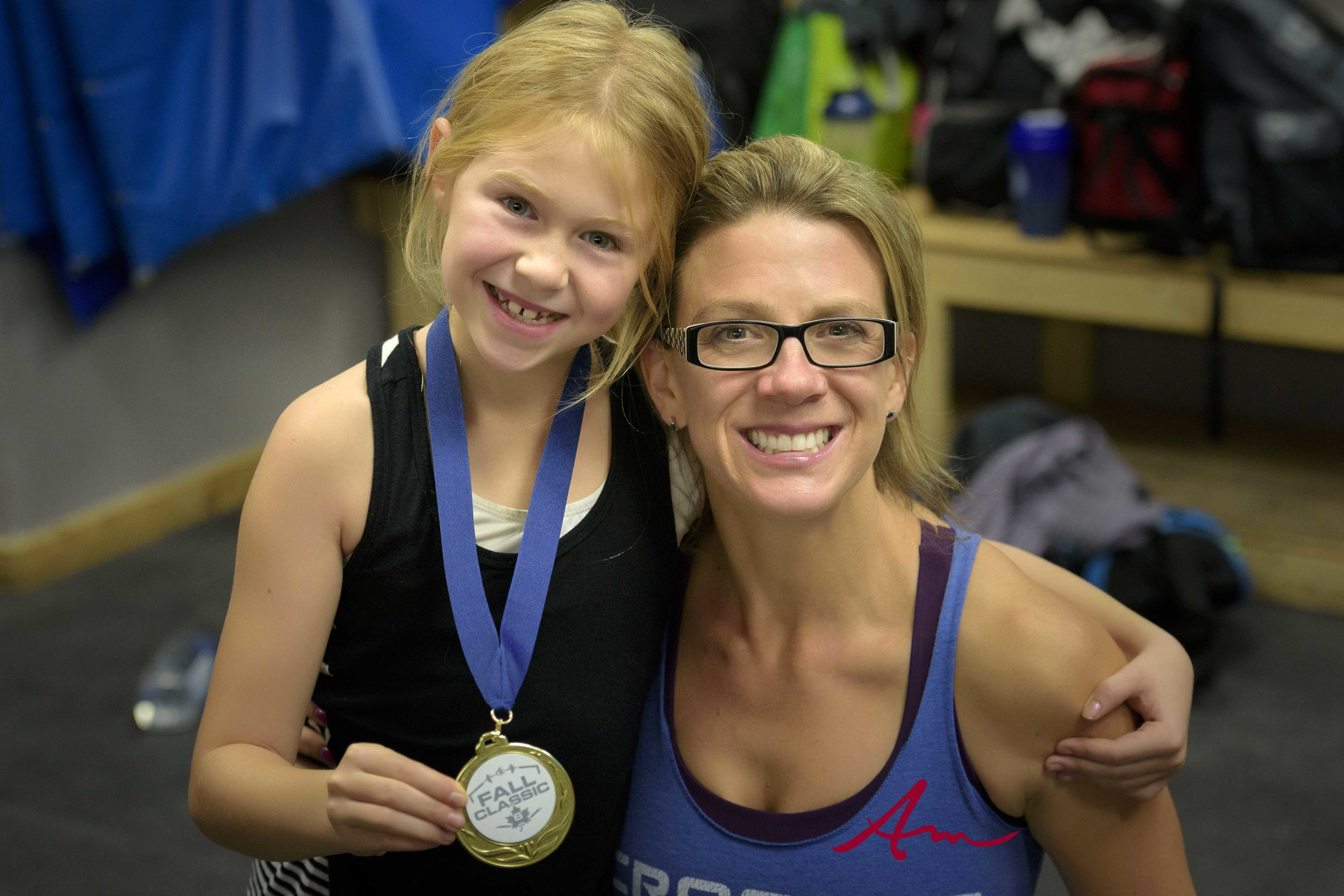 Sophia and I were both extremely proud of Kate the day she took 1st place in a local CrossFit competition.