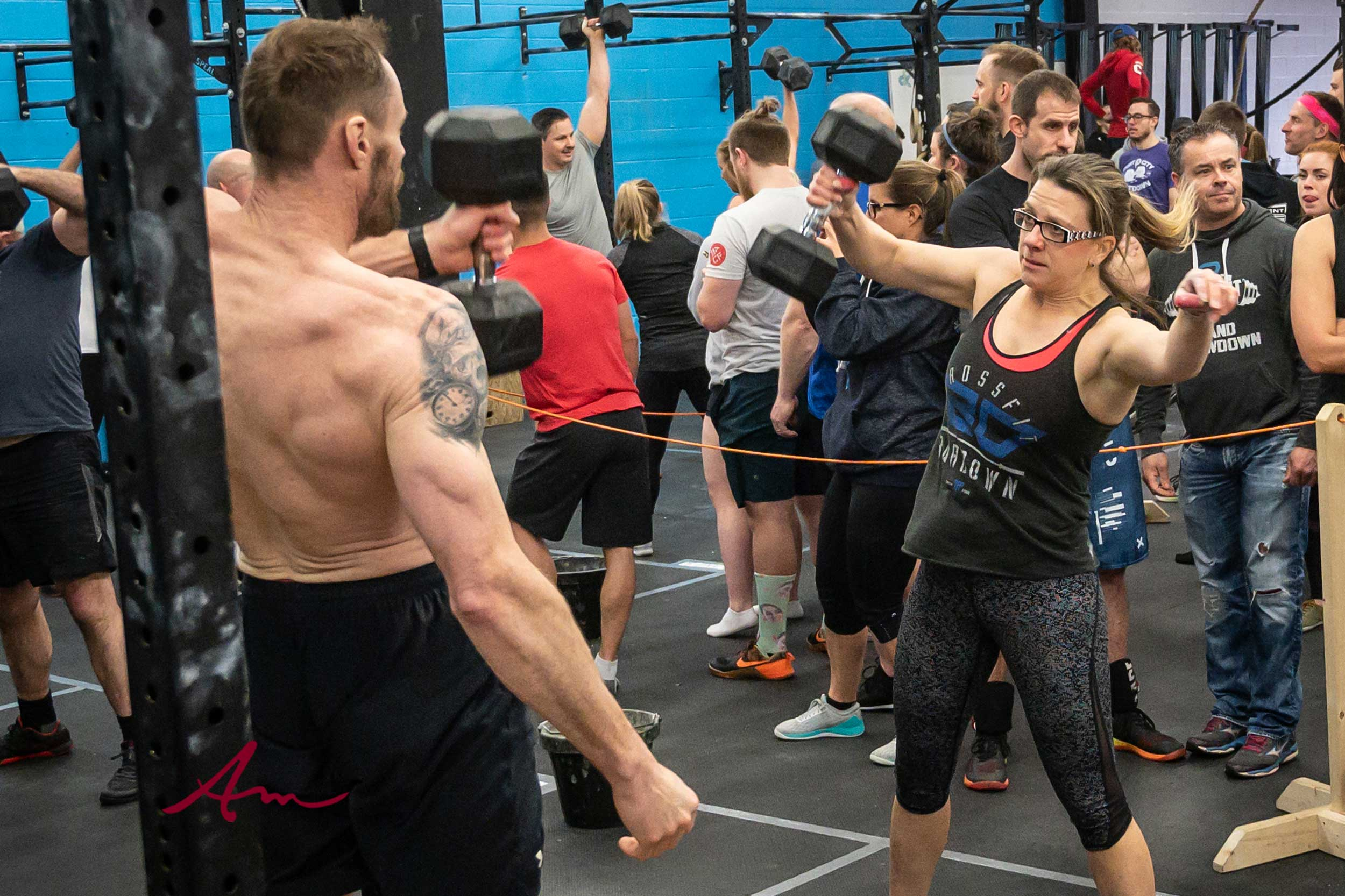 At a recent CrossFit partner competition.