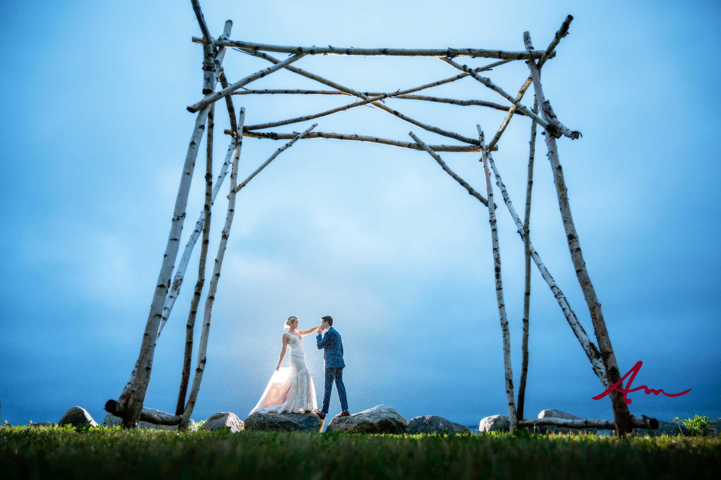 Katrina & Greg weren't able to have their ceremony here because of the rain but we made up for that at dusk!