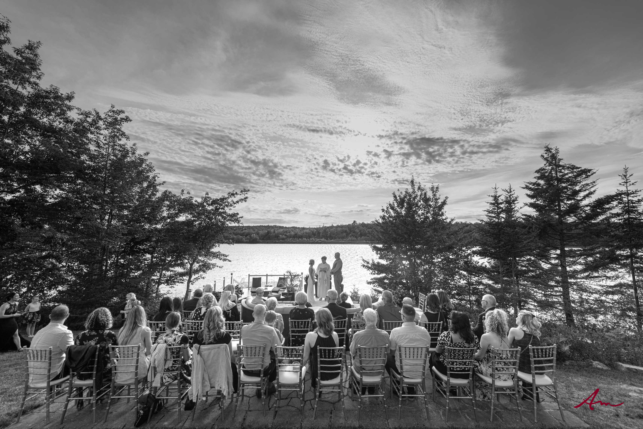 Gorgeous setting for a wedding ceremony.