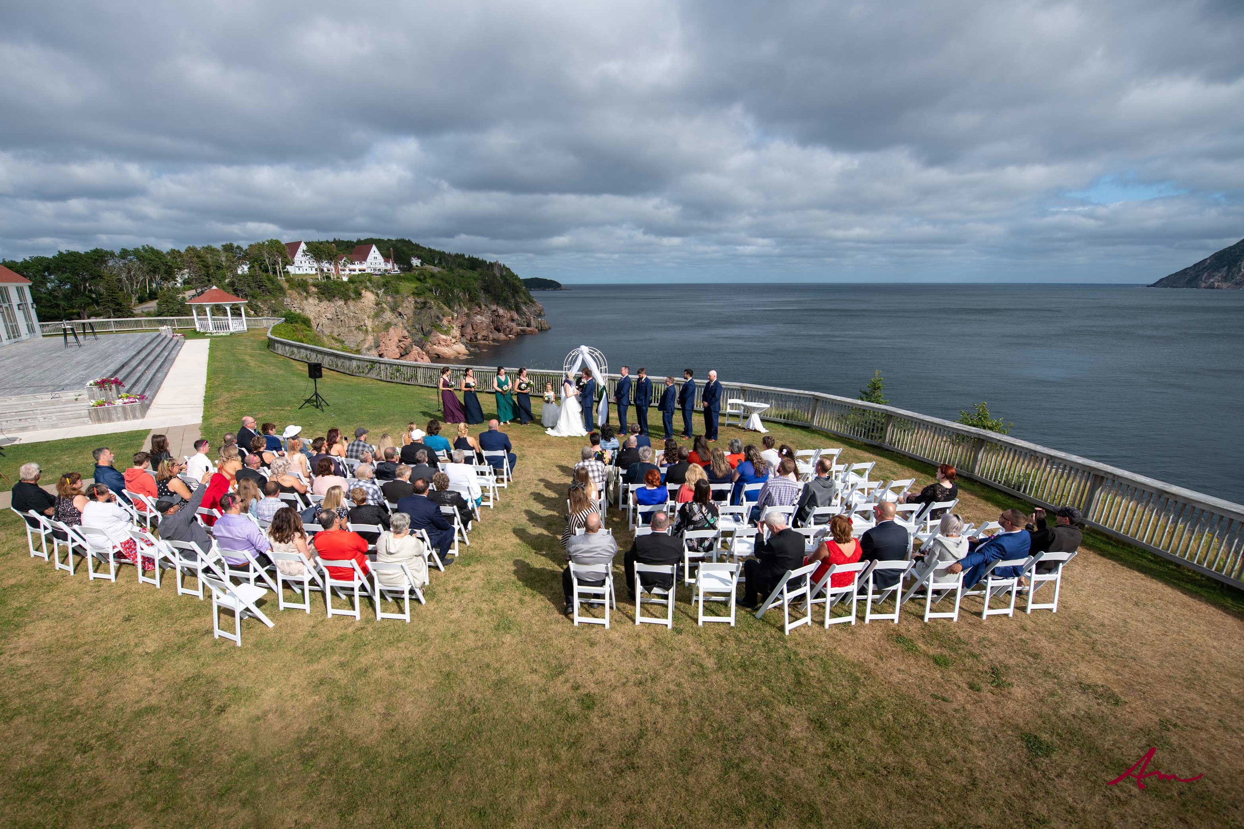 What a spot for a wedding ceremony!