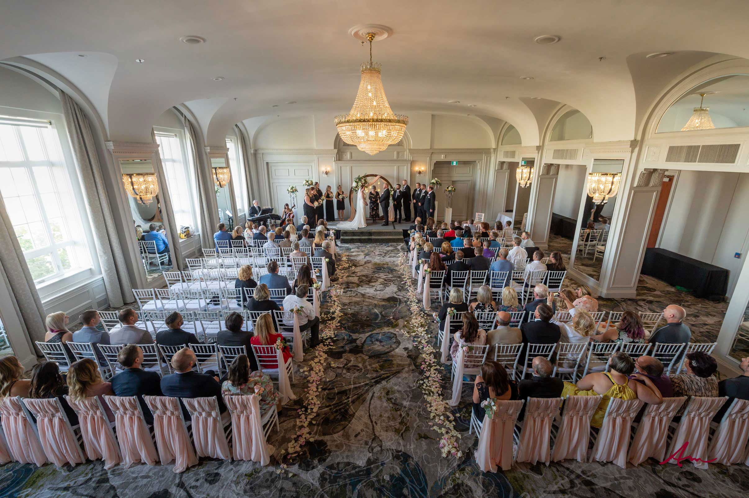 Gorgeous setting for a ceremony.