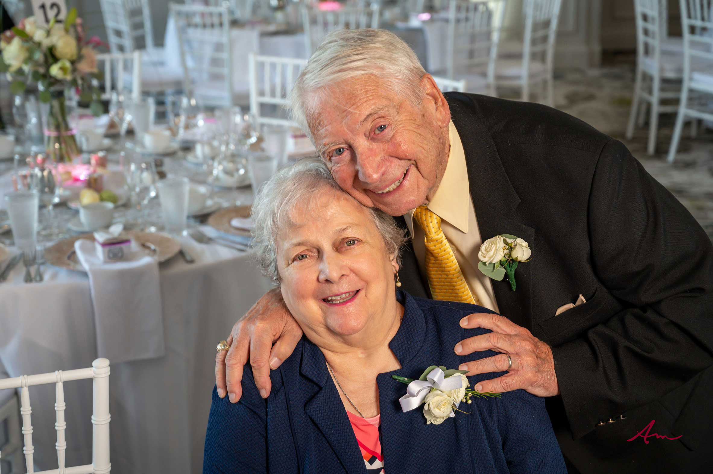 Married 62 years! Such a sweet couple.