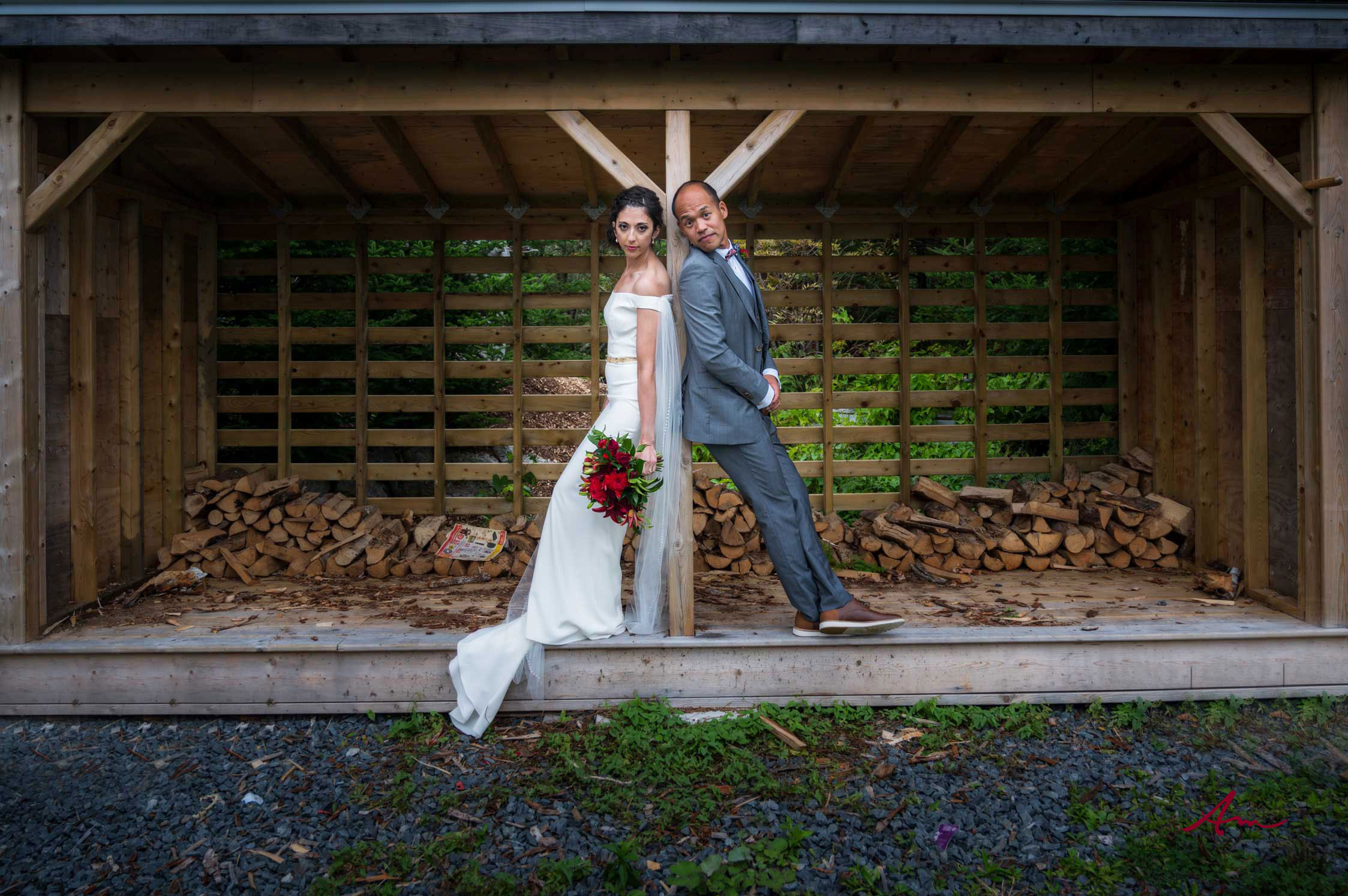Lots of fun spots for pictures at Oceanstone - including the wood shed.