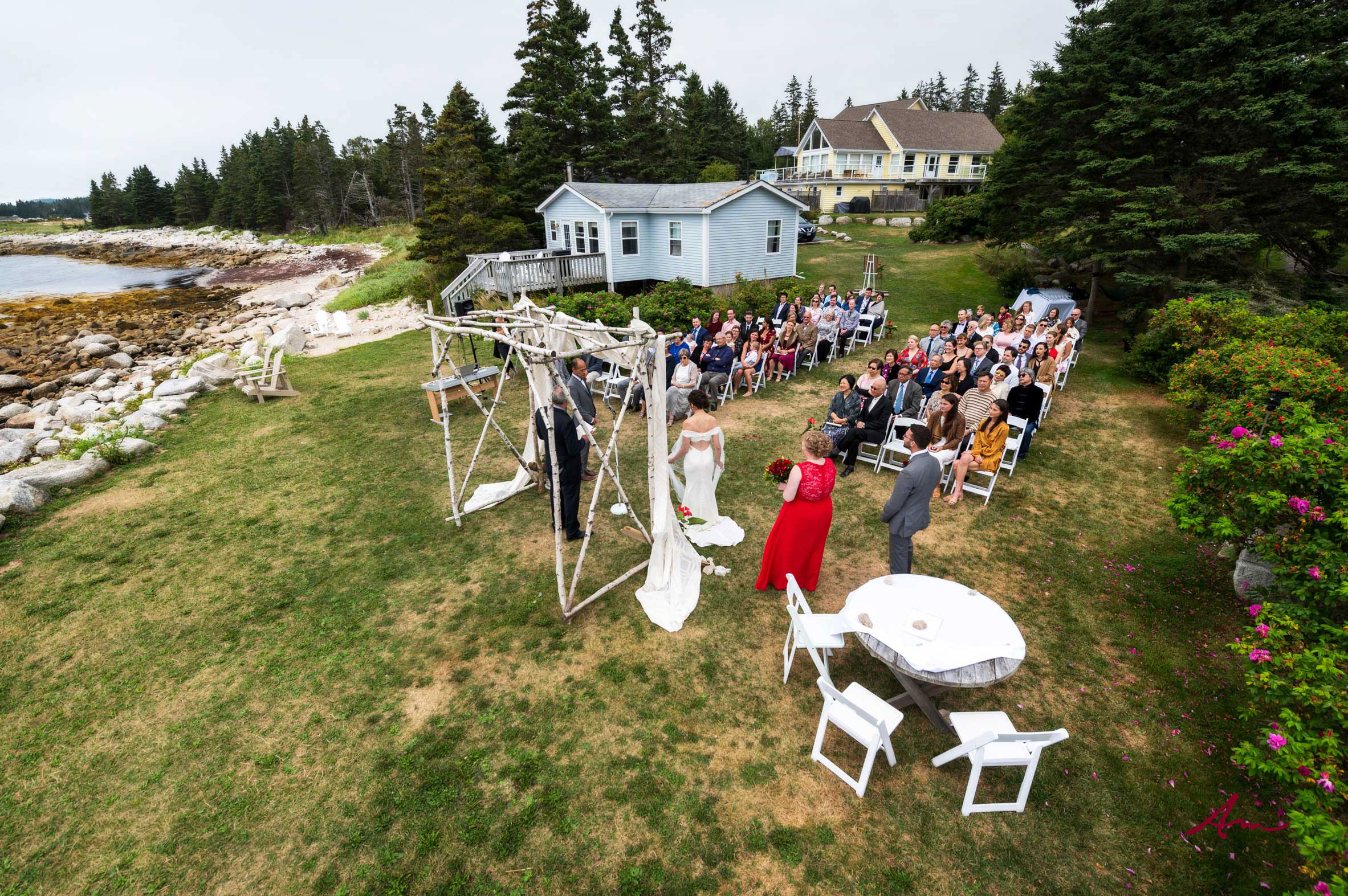 What a setting for a wedding!