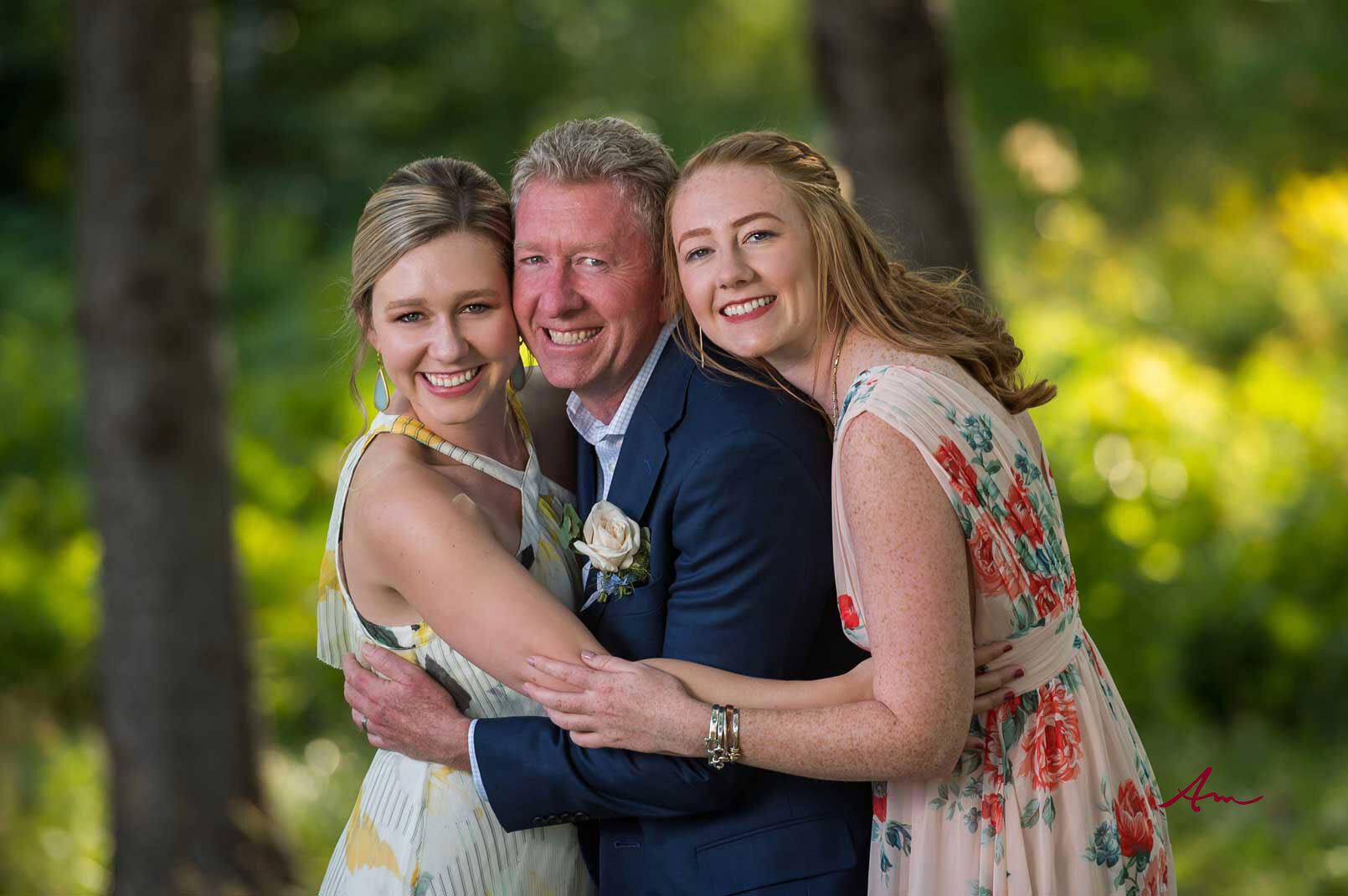 David and his beautiful daughters.