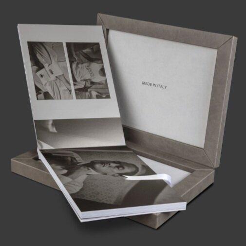 "Deluxe - 13""x9.5"" 30-page AlbumCustom BoxIncludes 60 wedding images*$1,495 (reg. $1,995)additional images $20ea (reg $40)"