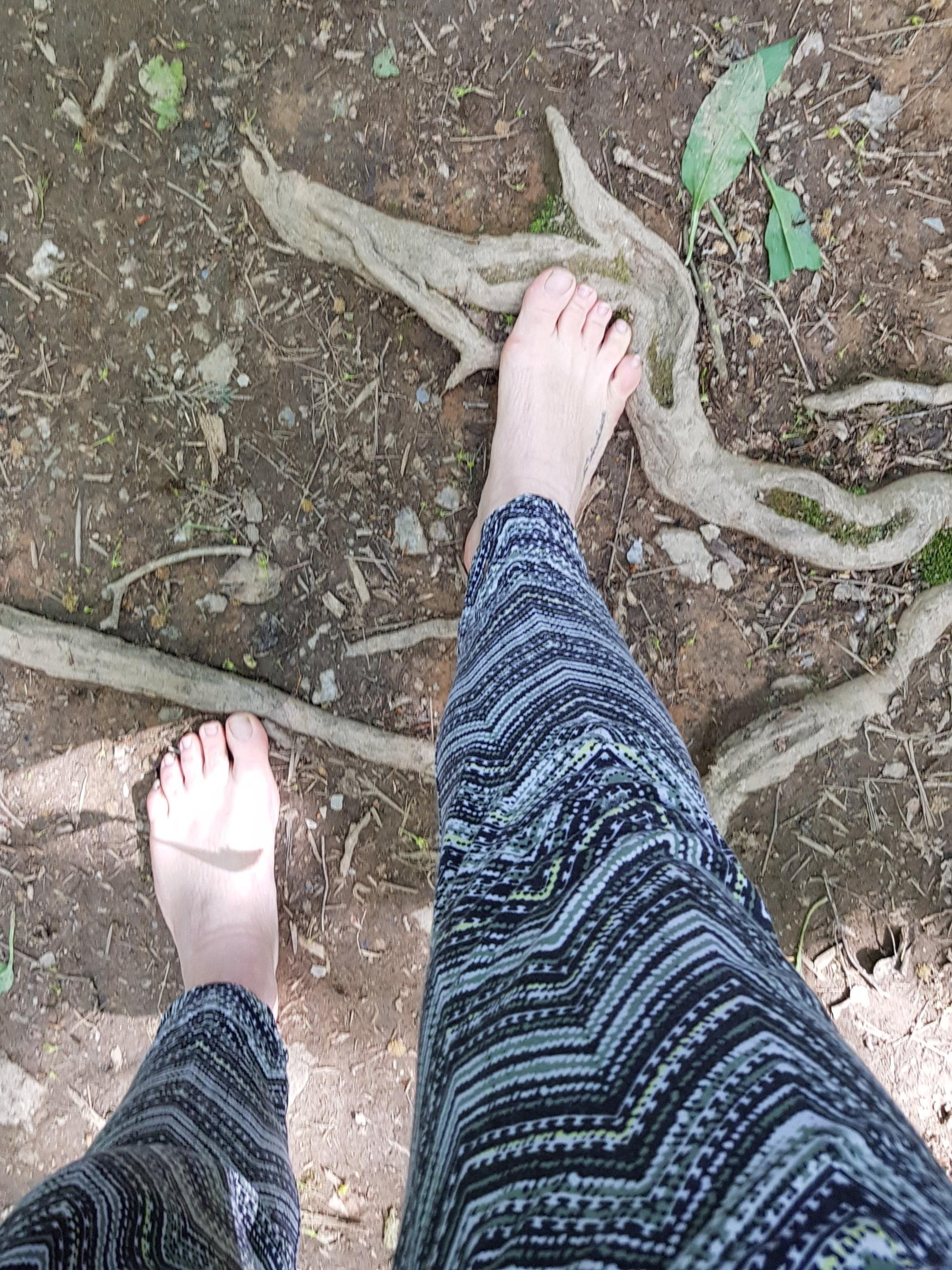 Spot of barefoot thinking on my feet…..