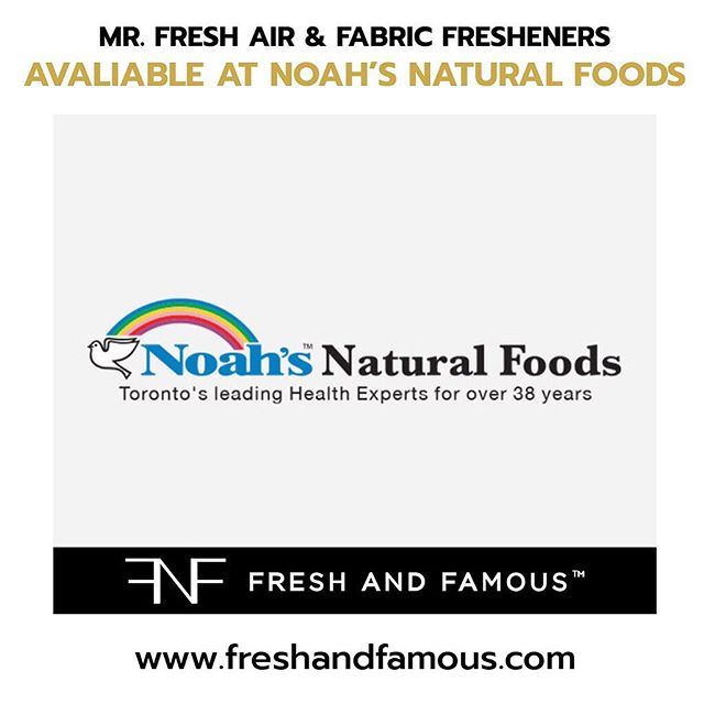_ We are excited to announce that you can now buy Mr.Fresh®️Air & Fabric Fresheners in Noah's Natural Health Foods Store!😀 _ Location: 322 Bloor St W ·  Open ⋅ Mon to Fri 9:30am to 8:30p.m, Sat 10am to 7pm, Sun 11am to 6pm. _ Keep It Fresh!😎 _ #Mrfreshairfresheners #FreshAndFamous  #MrFresh®️