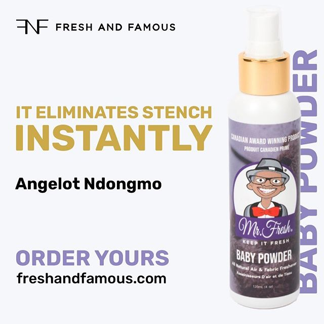 Mr.Fresh Air & Fabric Fresheners!!!😍 _ You'll never worry about your little stinker's…. Little stinkers again! _ All natural, aerosol free, non-flammable and safe for the whole family including your beloved pets! Actively eliminates offensive odours with only two sprays, does not just mask the odours.  _ Where to use?  Good for clothes, home fabrics, athletic wear, smoke, restrooms, vehicles, athletic gear, kitchens, gym bags, cannabis, pets and waste disposal areas.  _ Available Scents:  Four very fresh scents to enjoy; Divine Sensation (a romantic scent), Mother Earth (peaceful and green), Baby Powder (clean baby powder), and Tropical Isands (a Caribbean vacation in a bottle). You really must try these out to experience the results first hand. Use as a safe alternative to burning scented candles. All new + very sick packaging now online in store.👃 🌸 🌴 💕 _ Www.freshandfamous.com _ 📞Toll Free! 1-855-34-FRESH! (37374) _ 🇨🇦Canadian Award Winning Products!🇨🇦 _ #family #pets #environment #thebest #airfreshener #brand #theworld #MadeinCanada _ #FreshAndFamous