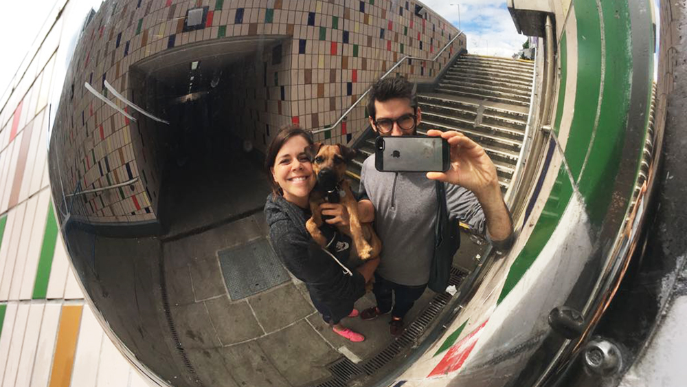 Jo, Justin & Molly the dog
